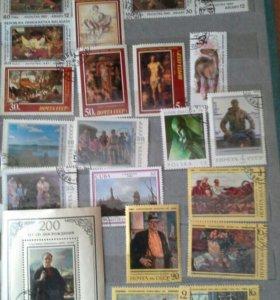 Колекция марок 450 штук с альбомом
