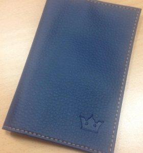 Обложка на паспорт, цвет синий