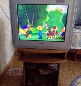 Телевизор Samsung +тумба