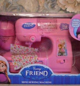Машинка швейная для девочек, новая