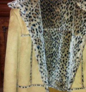 Куртка новая леопардовый принт