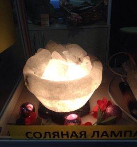 Соляная лампа Чаша огня 6 кг.