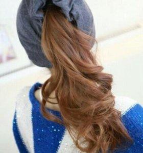 Шапочка с отверстием для волос