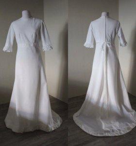 Тёплое платье винтажное