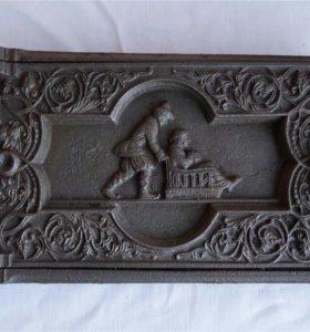 Касли, старинная печная дверца зимняя сценка створ