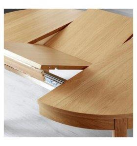 Раздвижной стол, дубовый шпон,115/166 см