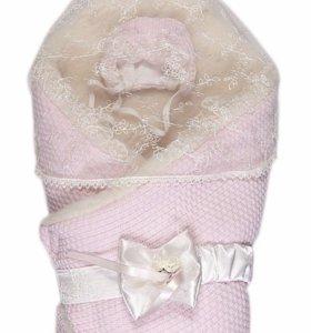 Конверт - одеяло на выписку Сонный гномик (мех)