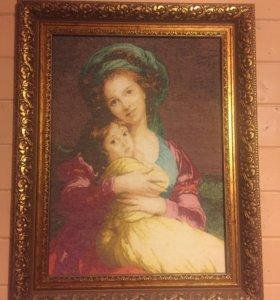 Вышивка крестиком Материнская любовь
