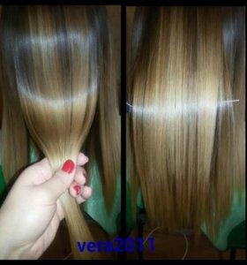 Кератиновое восстановление выпрямление волос