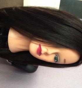 Манекен на штативе. Волосы 100% натуральные