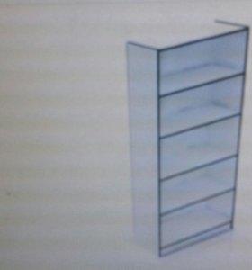стеллаж- шкаф витринный