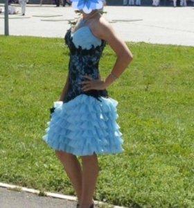 Корсетное платье с заниженной талией