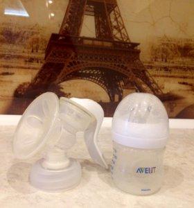 Молокоотсос AVENT+ бутылочка для кормления