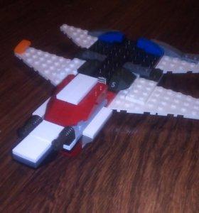 LEGO, самодельный самолет.