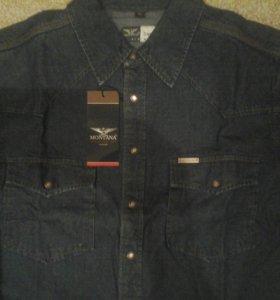 Джинсовая рубашка Montana мужская курткипиджак3800