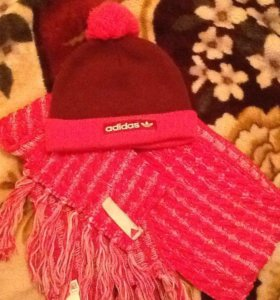 Комплект шарф с шапкой