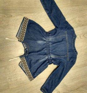 Ветровка джинсовая, для девочки 6-8лет