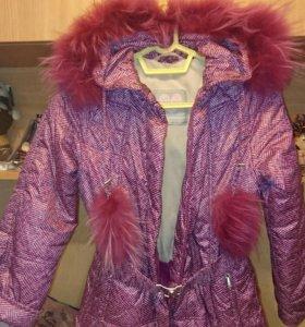 Пальто на девочку, рост 140