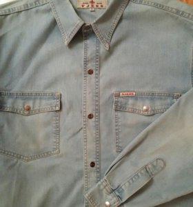 Рубашка джинсовая 52-54 размер