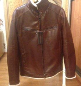 Кожаная куртка абсолютно новая