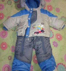 Зимний костюм-комбинезон