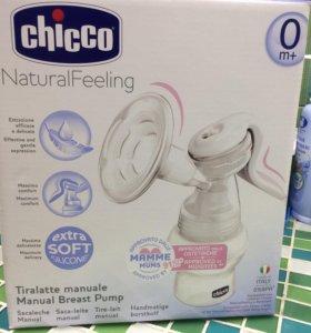 Ручной молокоотсос Chicco новый
