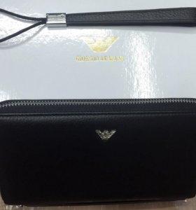 Новый кожаный клатч / портмоне Giorgio Armani
