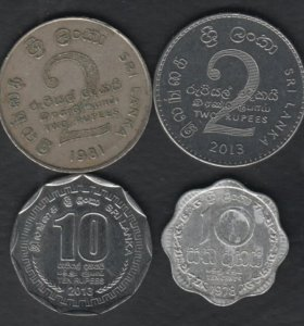 Шри-Ланка 4 монеты