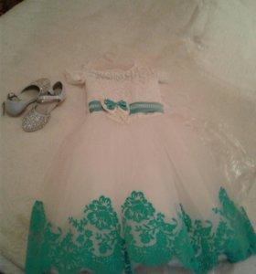 Платье для девочки от 4-7 лет