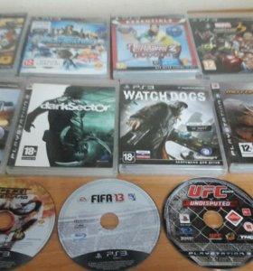 Playstation3 + 11 игр и два джостика