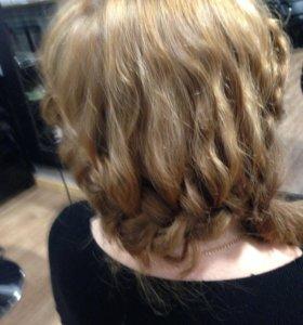 Окрашивание волос и стрижки