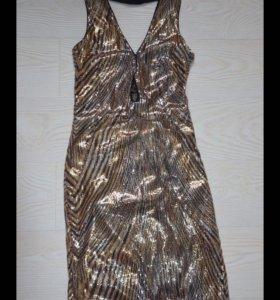 Платье расшитое паетками!