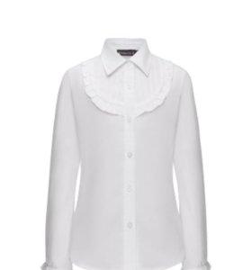 Блузка с длинными рукавами для девочки, цвет белый