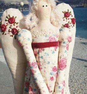 Кукла ручной работы тильда винтажный ангел