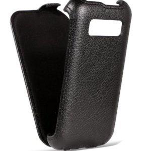 Кожанный чехол для Alcatel One Touch Pop c5 5036