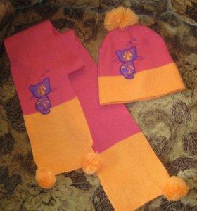 Новый комплект - весенние шапка и шарф