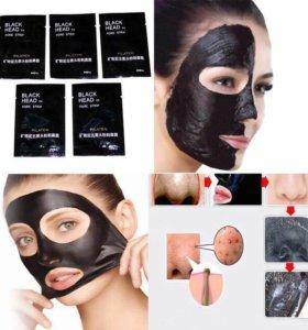 Чёрная маска для кожи лица