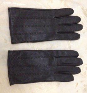 Новые кожаные мужские перчатки