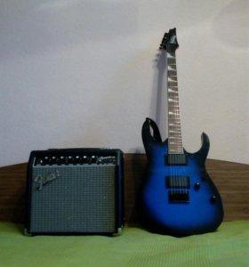 Ibanez gio grt121dx-sls  и   Fender champion 20