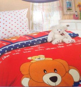 1.5-спальный комплект из поплина