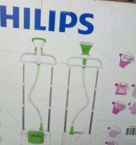Отпариватель для одежды philips GC660