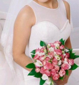 Очень нежное свадебное платье, силуэт-Рыбка