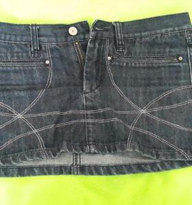 Юбка джинсовая блузка