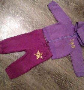 Спортивный тёплый костюм для девочки