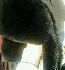 Зимняя шапка-ушанка (кролик)