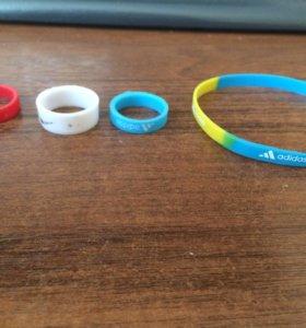 Резиновые кольца,браслет