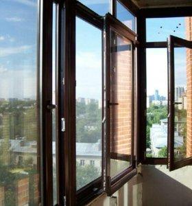 Металлопластиковые окна и двери, балконы