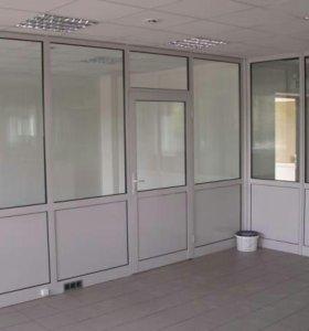 Металлопластиковые двери и перегородки