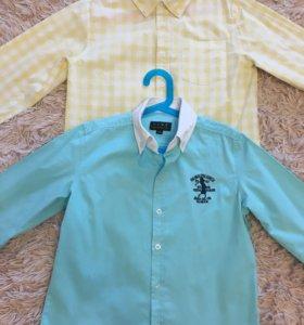 Фирменные рубашки Next,Ralph Lauren д/м 10лет