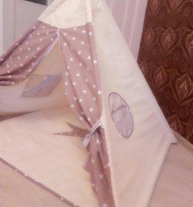 Вигвамы, буквы подушки, одеяла бон бон и тд.